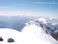 Dalla vetta Monte Bianco