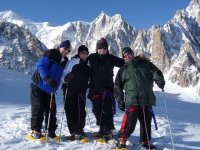 A group with snowshoes
