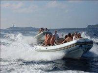 Sardinia in dinghy