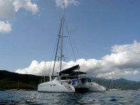 Catamaran at Elba Island