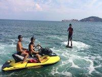 Con amici in acqua