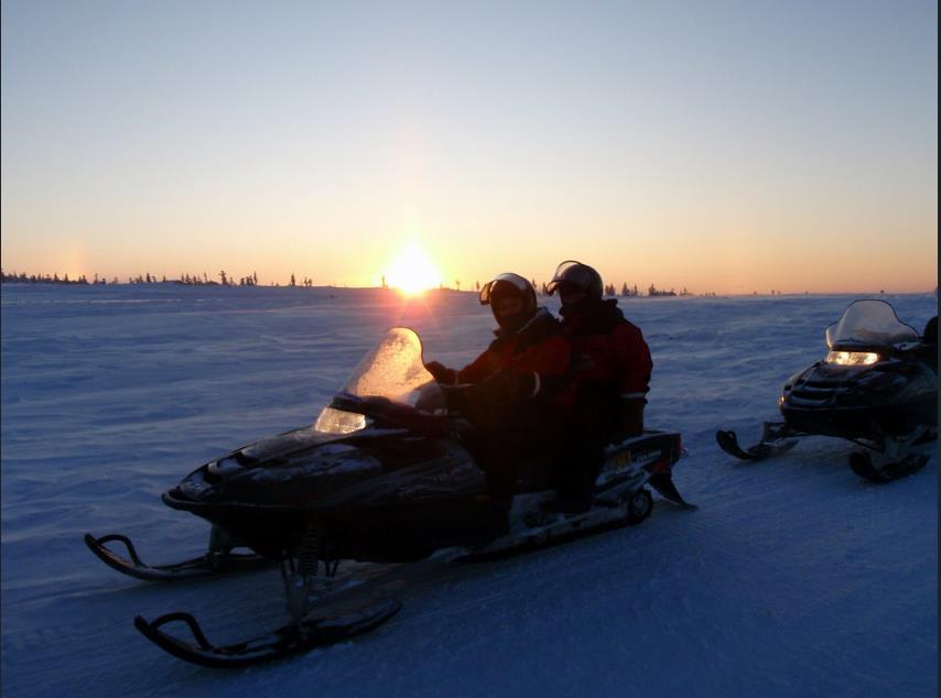 Una giornata romantica tra la neve